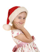 Christmas kid in Santa hat — Stock Photo