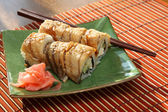Rolls with the eel — Stock Photo