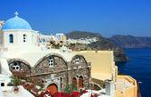View over town Oia island Santorini — Stock Photo