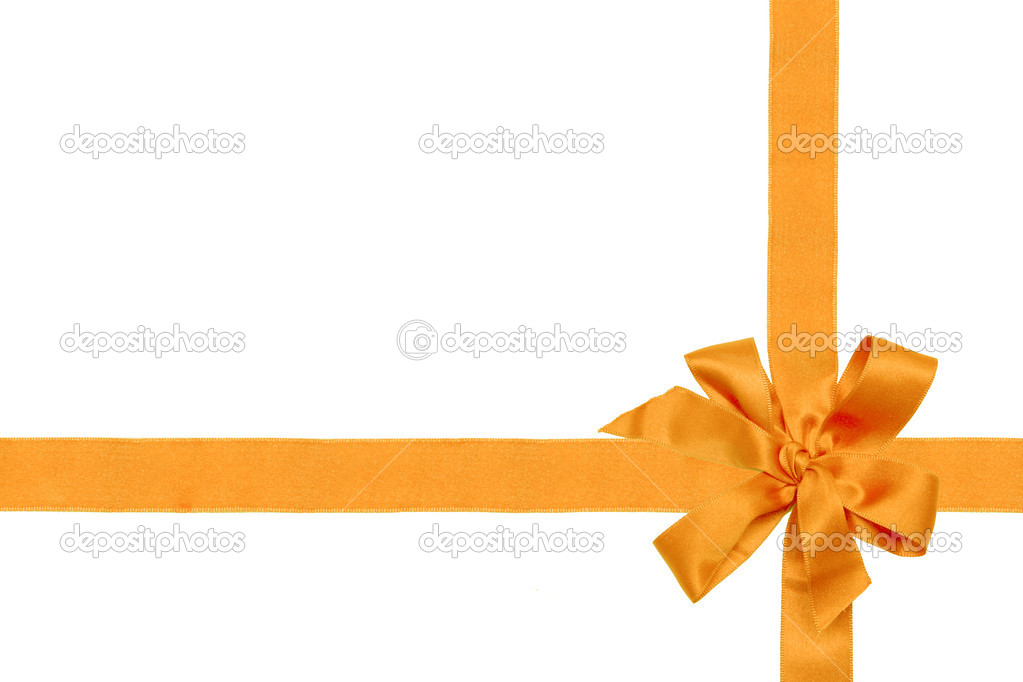 Gift red ribbon and bow isolated on white.  Stock Photo #1225881