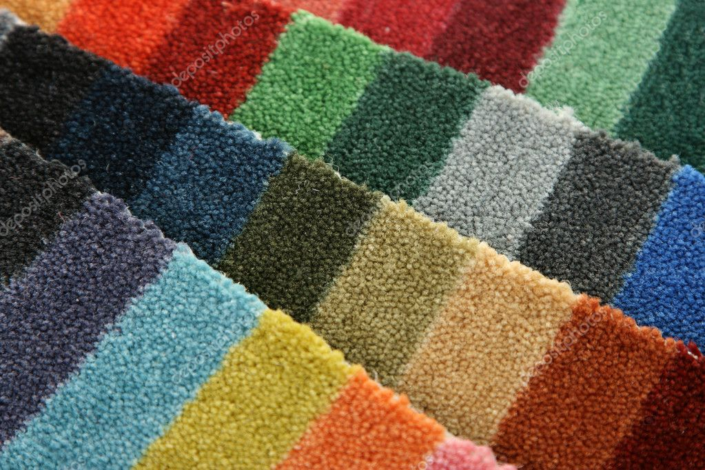 Samples of color of a carpet covering closeup — Stock Photo #1229422