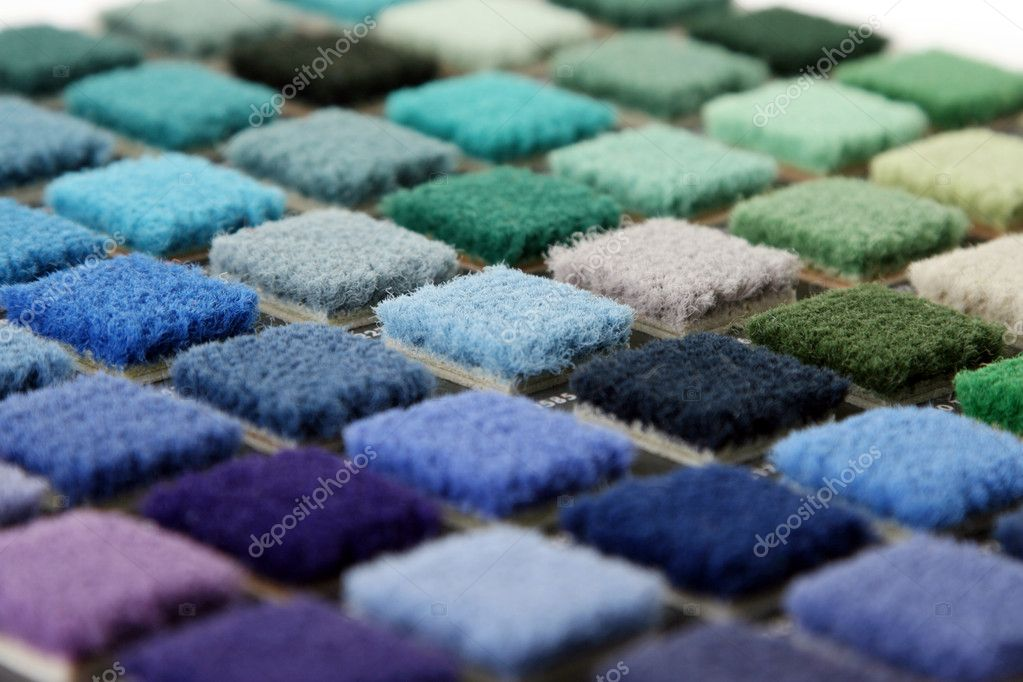Samples of color of a carpet covering closeup — Stock Photo #1229509