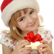 Small girl with christmas hat — Stock Photo #1838990