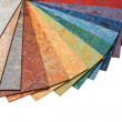 Samples of color of a carpet covering - Stock Photo