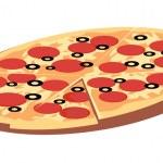 Pizza - Векторная иллюстрация