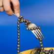 Stock Photo: Jewellery on plate