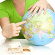 Globe in hands — Stock Photo #1237031