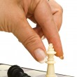 Play chess: king and queen — Stock Photo