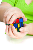 Do the Rubic cube — Stock Photo