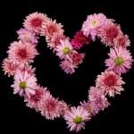 corazón de flor — Foto de Stock