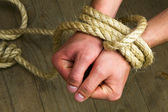 Hands tied — Stock Photo