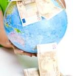 Concept of world money — Stock Photo