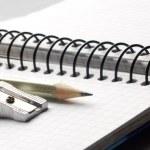 Sharpening a graphite pencil — Stock Photo