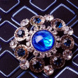 Stock Photo: Retro brooch with blue stones