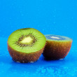 Royalty-Free Stock Photo: Kiwi with drops of water