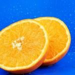 Delicious orange. Water drops around ju — Stock Photo #1793218