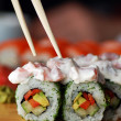 Stock Photo: Traditional Japanese food . Sushi