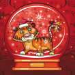 Royalty-Free Stock Photo: Tiger insida of crystal ball