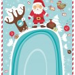 Santa Claus in the forest - Stock Vector