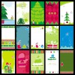 Christmas business cards — Imagen vectorial