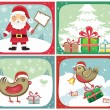 Christmas Greeting cards — Stock Vector #1224543