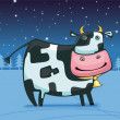 Royalty-Free Stock Vector Image: Cute friendly cow