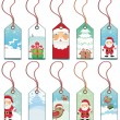 Christmas holiday tags. — Stock Vector