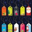 Stock Vector: Christmas grunge tags.