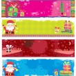 Stock Vector: Cute Christmas banners.