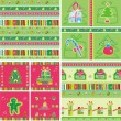 Christmas Seamless set — Stock Vector
