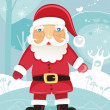 Stock Vector: Santa Claus in the forest