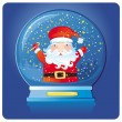 Santa inside of the snow dome. — Stock Vector #1224799
