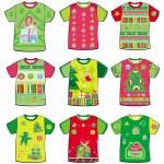 Christmas t-shirts — Stock Vector