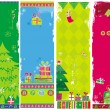 Stock Vector: Vertical Christmas banners, vector.
