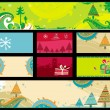 Stock Vector: Christmas banners, vector.