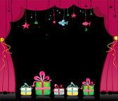 Magic theater curtain. — Stock Vector