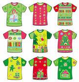 Navidad camisetas — Vector de stock