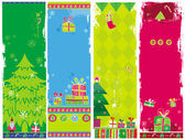 Vertical Christmas banners, vector. — Stock Vector