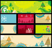 Christmas banners, vector. — Stock Vector