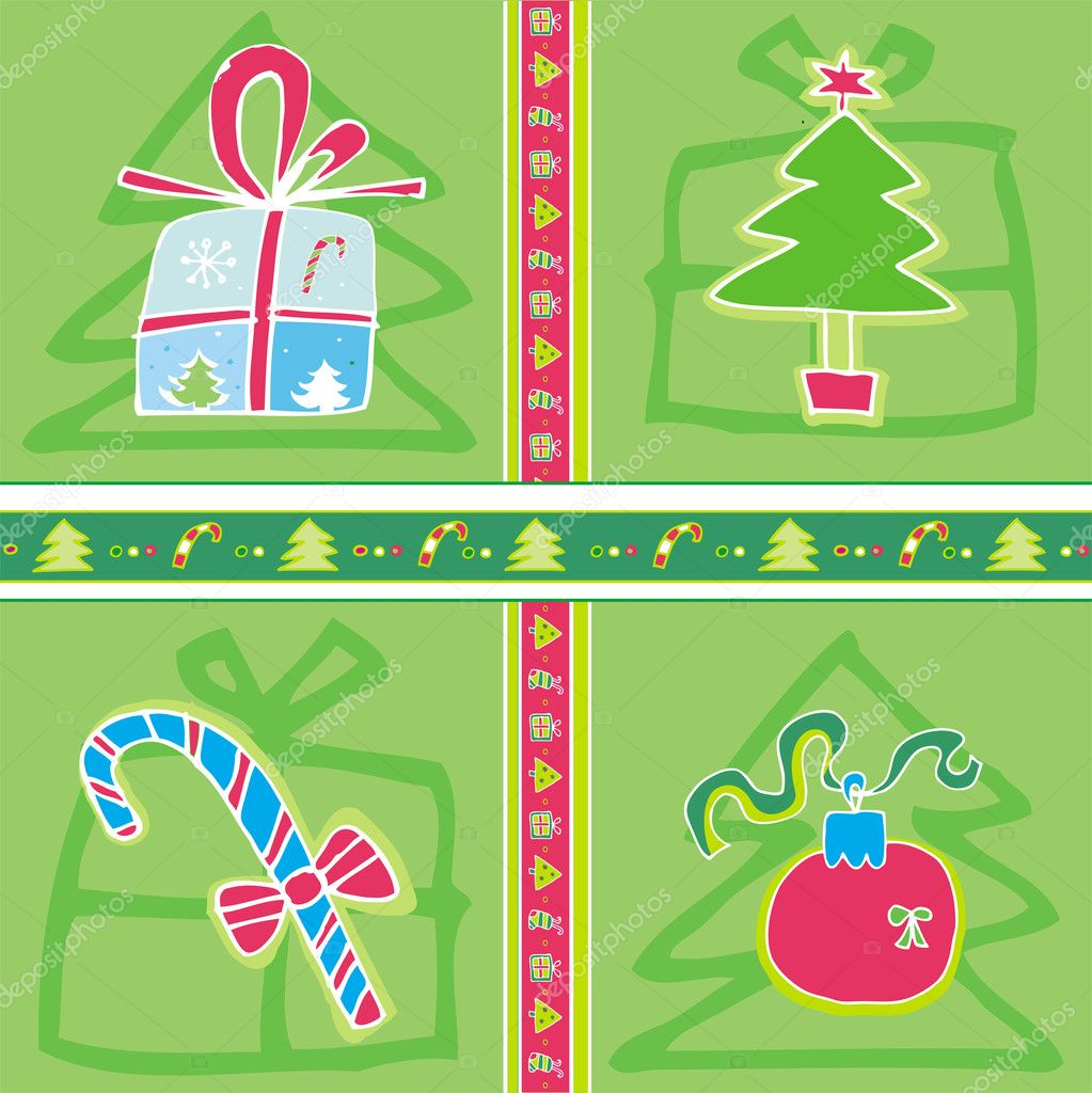 Christmas Seamless Pattern.  — Stock Vector #1224725