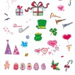 Stock Photo: Party and holiday icon set series
