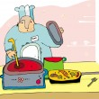 Chef cooking food — Stock Photo #1281797