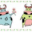 Stock Photo: Cute cows