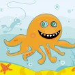 Cute friendly octopus — Stock Photo #1282104
