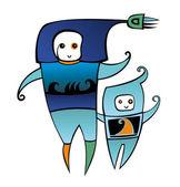 Spacemen — Stock Photo