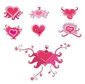Valentine hearts set — Stock Photo