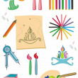Colorful set of art supplies - 
