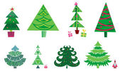 Christmas tree - set of vector elements — Stock Photo