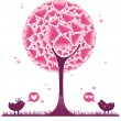 Royalty-Free Stock Vectorafbeeldingen: Valentine decorative tree 2