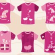 Valentine`s day t shirts design. — 图库矢量图片